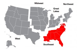 southeast red